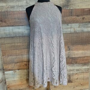 Altair's state beige lace a-line dress, size small